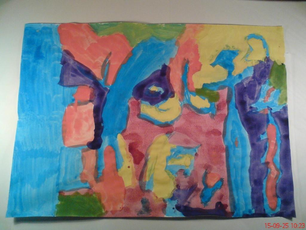Ezt idén nyáron, 8,5 évesen festette